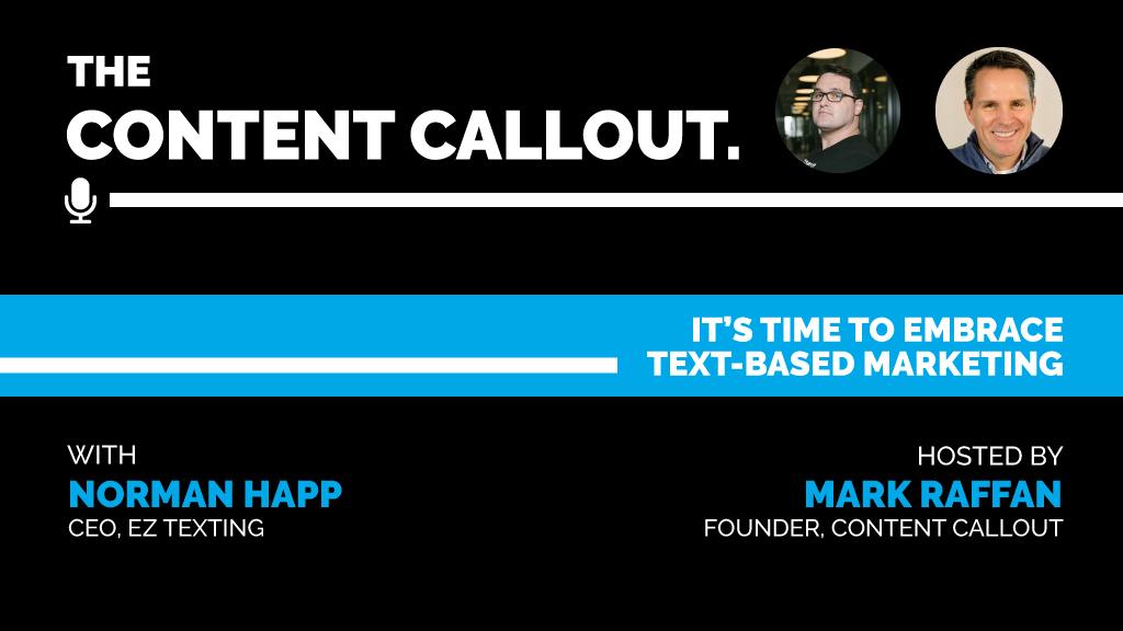 text-based marketing Norman Happ
