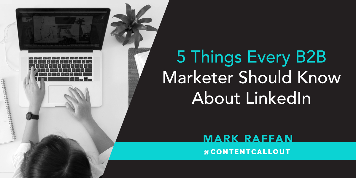 5 Things Every B2B Marketer Should Know About LinkedIn